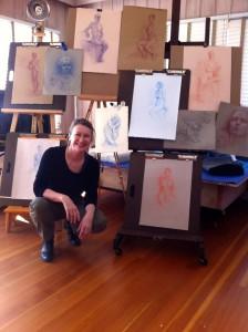Della in her studio