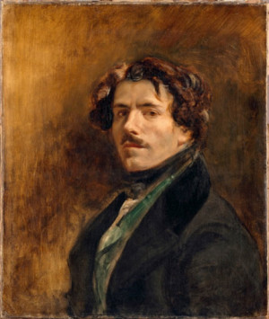 Eugène Delacroix, Self Portrait, 1837 © Musée du Louvre