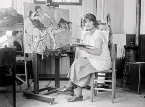 Valadon in her studio